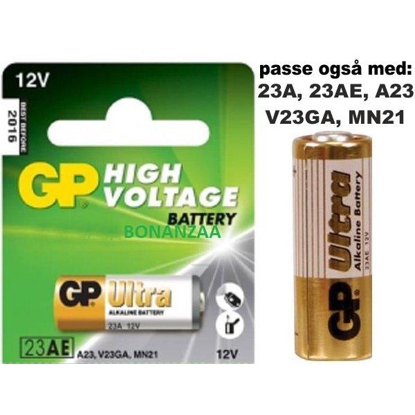 Unik GP A23 12v Batteri ALKALINE | 135 PF31